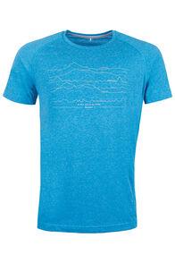 Great Walks Polycotton T-Shirt - Men's, Light Blue Marle, hi-res
