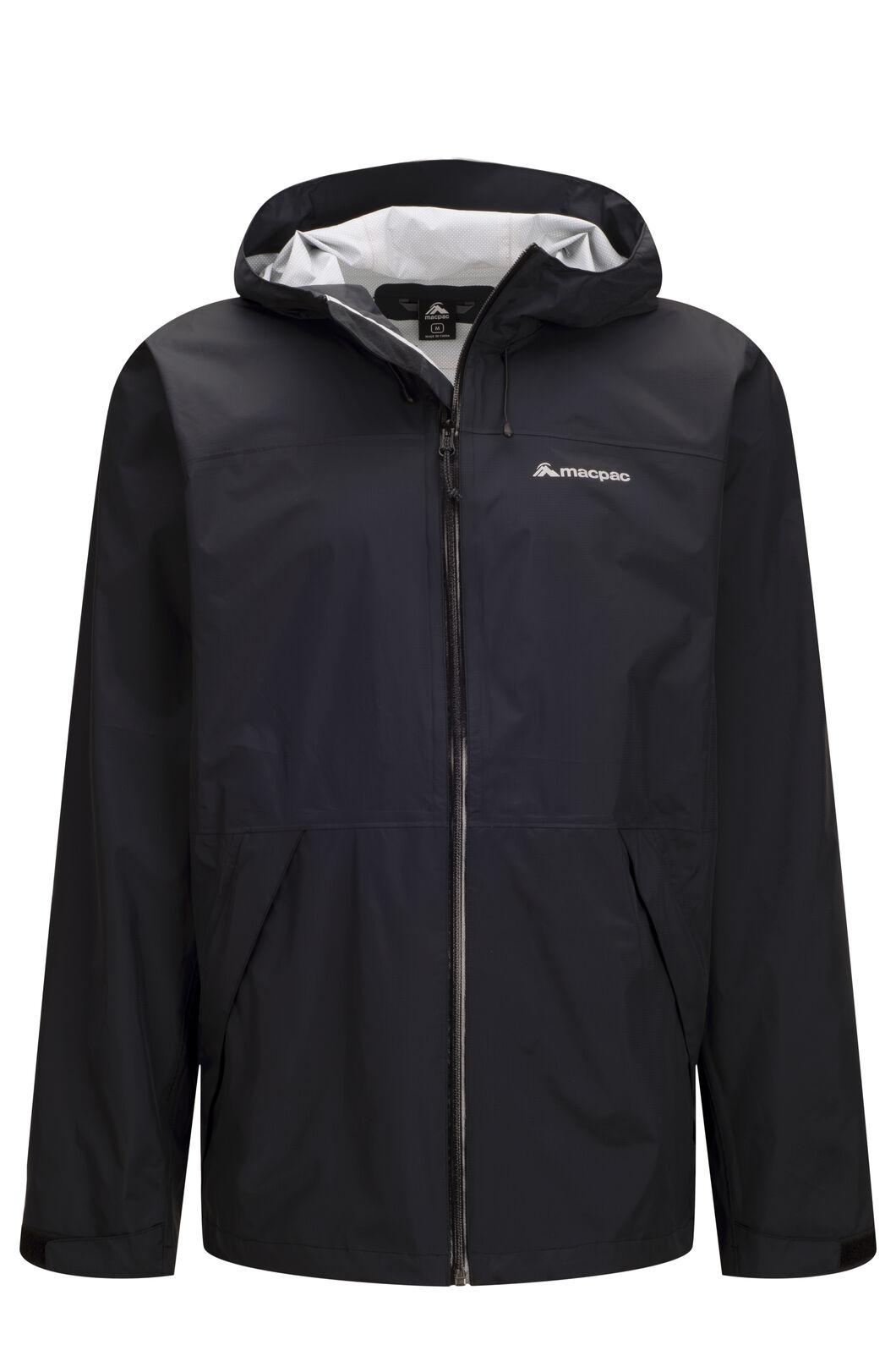 Macpac Men's Mistral Rain Jacket, Black, hi-res