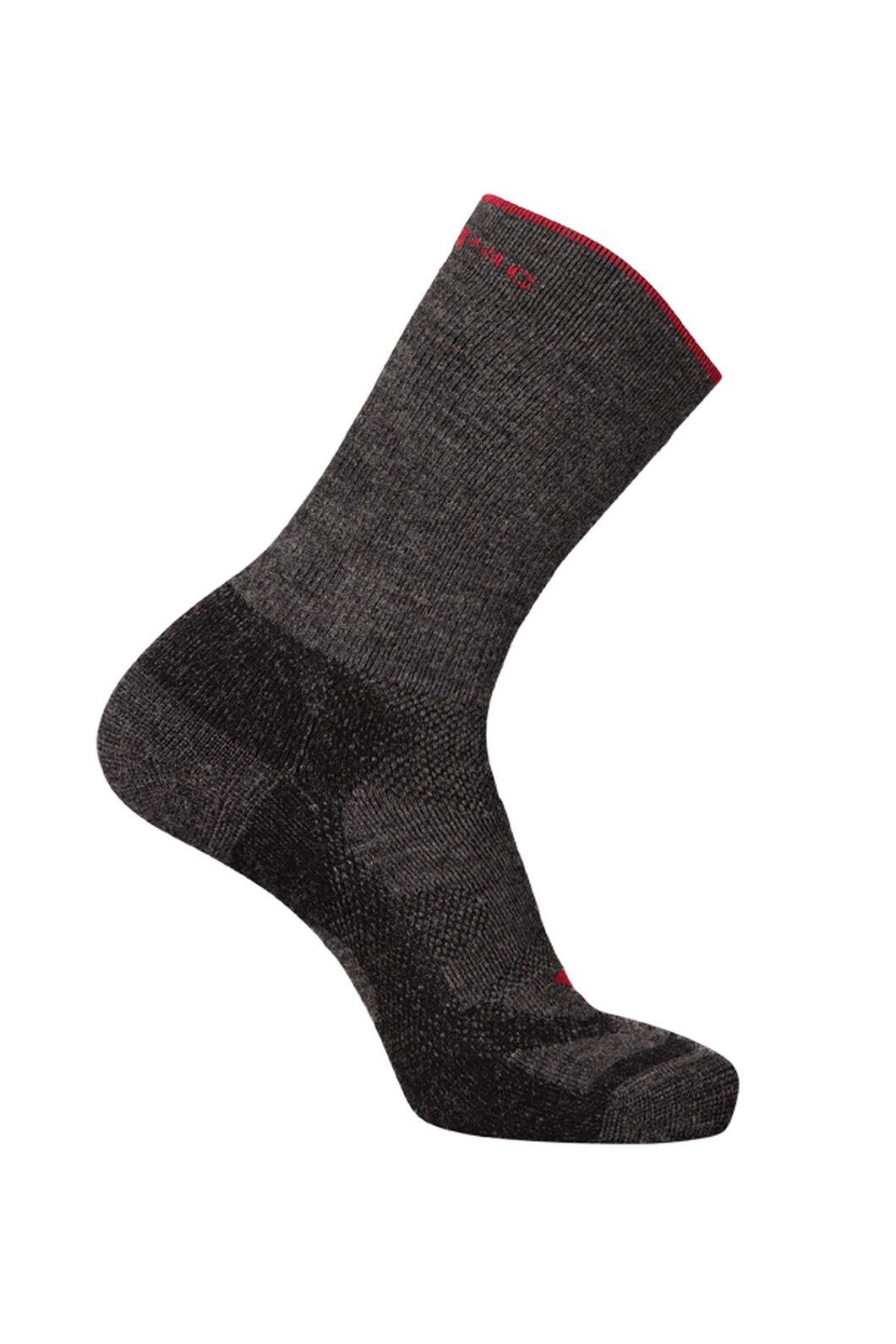 Macpac Merino Hiker Socks, Forged Iron Melange, hi-res