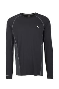 Macpac Casswell Long Sleeve Merino Crew - Men's, Black, hi-res