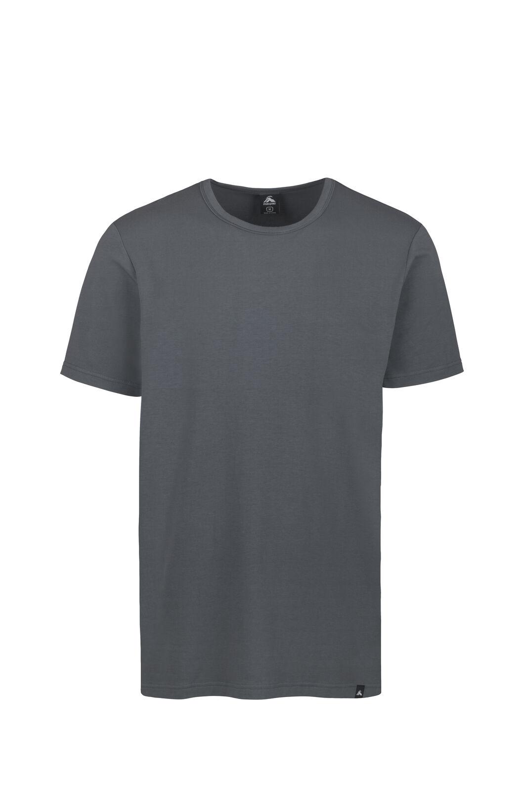 Macpac Angus Short Sleeved Tee - Men's, Asphalt, hi-res