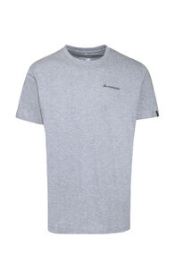 Macpac Mt Aspiring Fairtrade Organic Cotton Tee — Men's, Grey Marle, hi-res