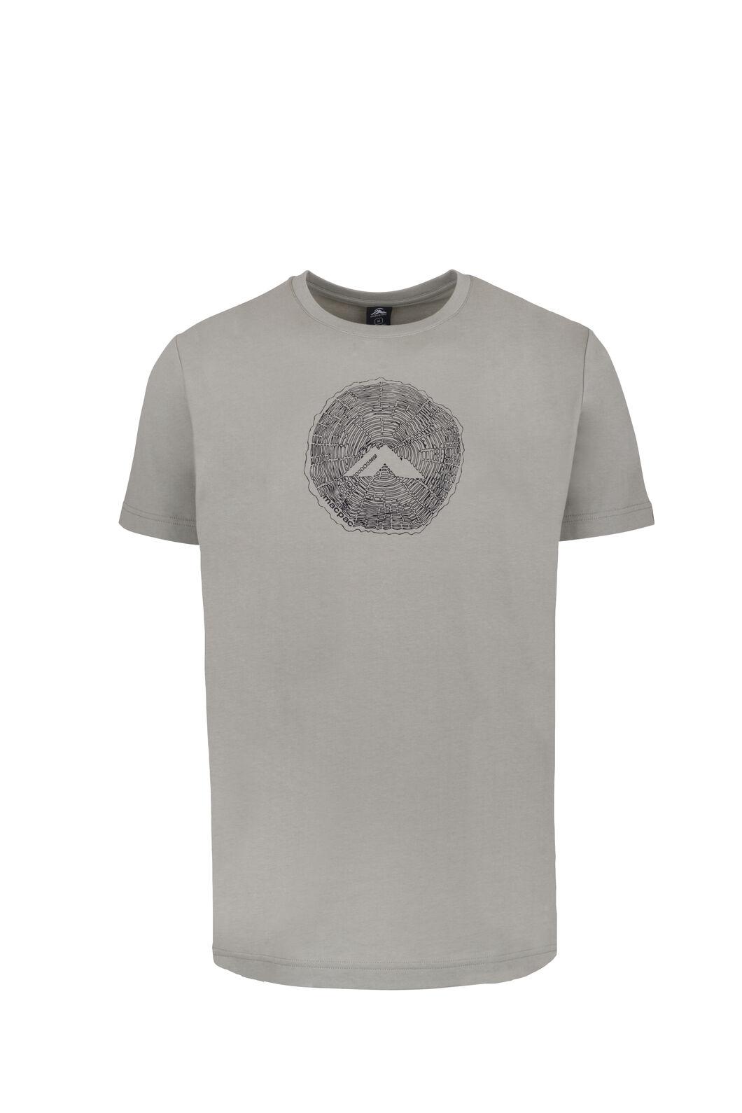 Macpac Sawcut Organic Cotton T-Shirt - Men's, Seagrass, hi-res