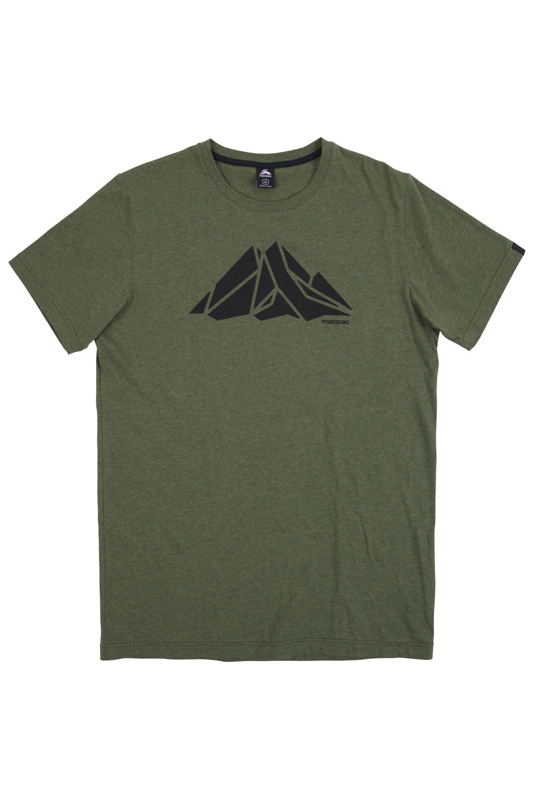 4114d0576 Macpac Screen Print Organic Cotton Tee - Men's, Rifle Melange, ...