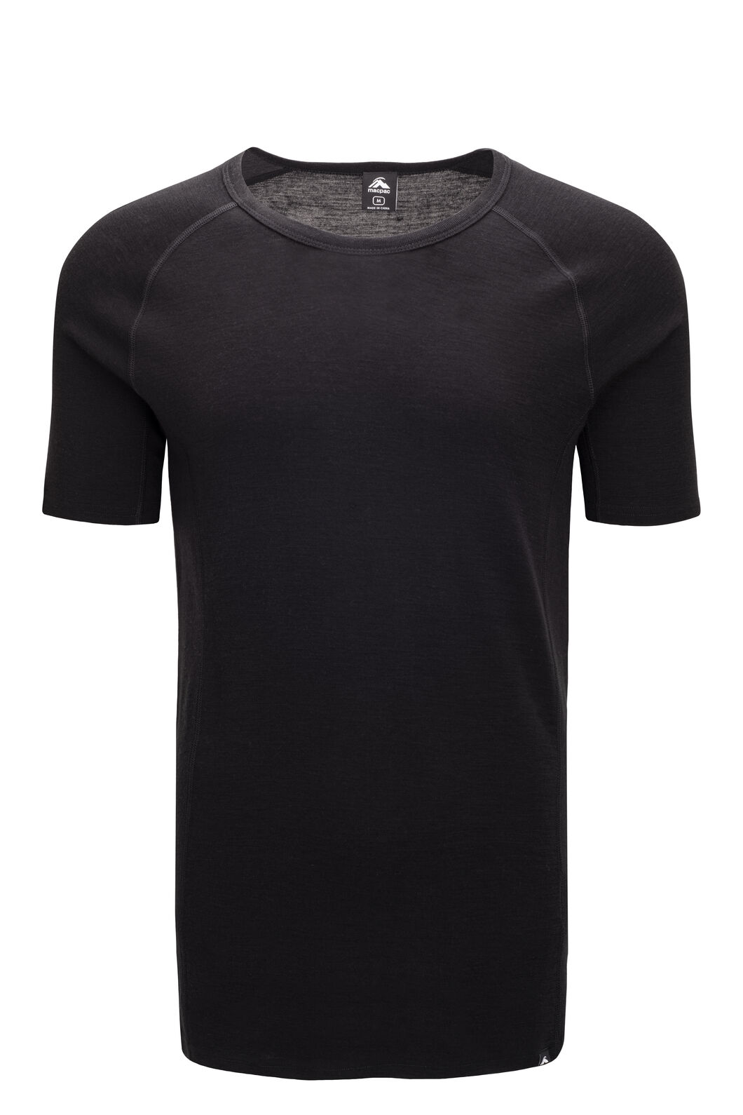 Macpac 220 Merino Short Sleeve Top — Men's, Black, hi-res