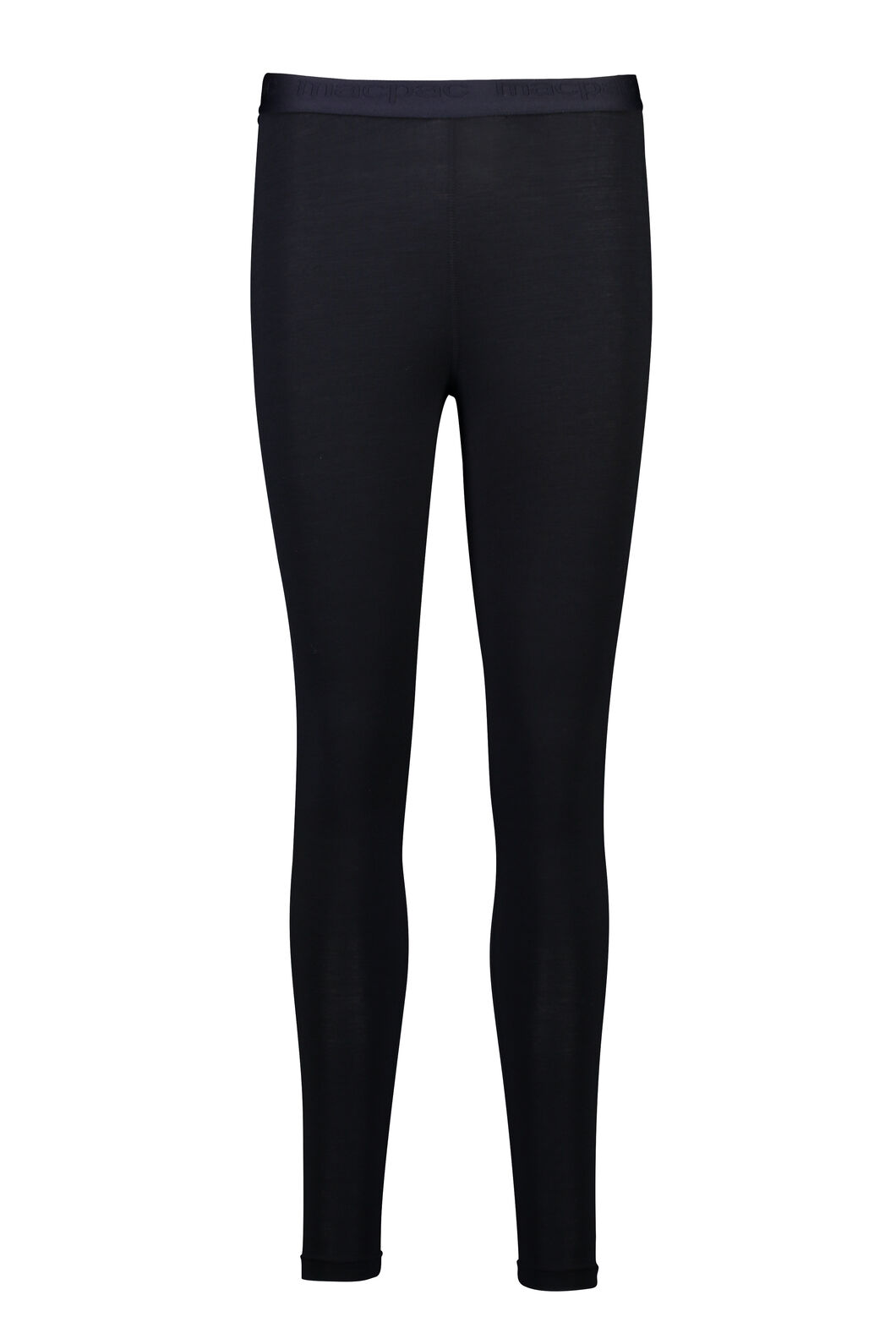 Macpac 180 Merino Long Johns — Women's, Black, hi-res