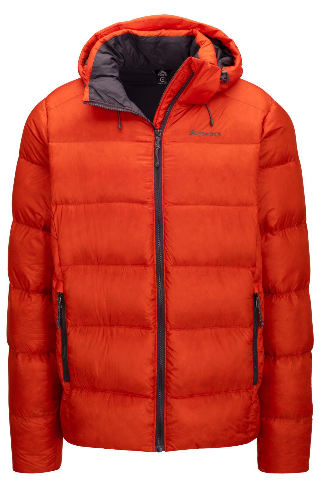 Macpac Men's Sundowner Pertex® Hooded Down Jacket, Pureed Pumpkin, hi-res