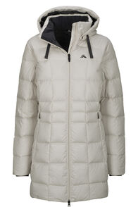 Macpac Aurora Hooded Down Coat — Women's, Moonbeam, hi-res