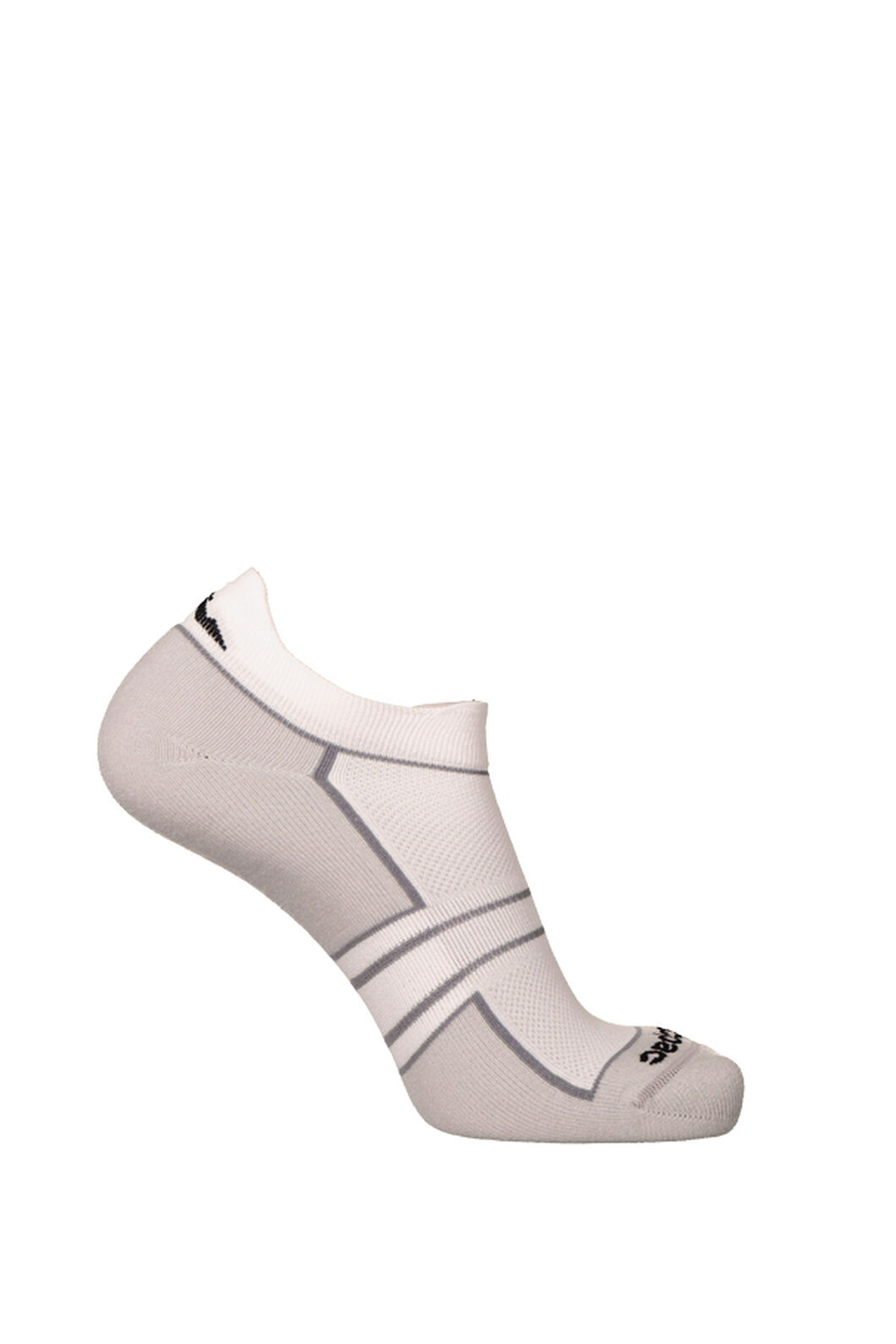 Macpac Light Trail Run Socks 2 Pack, Black/White, hi-res