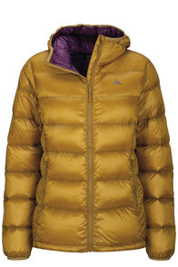 Macpac Jupiter Hooded Down Jacket — Women's, Dried Tussock, hi-res
