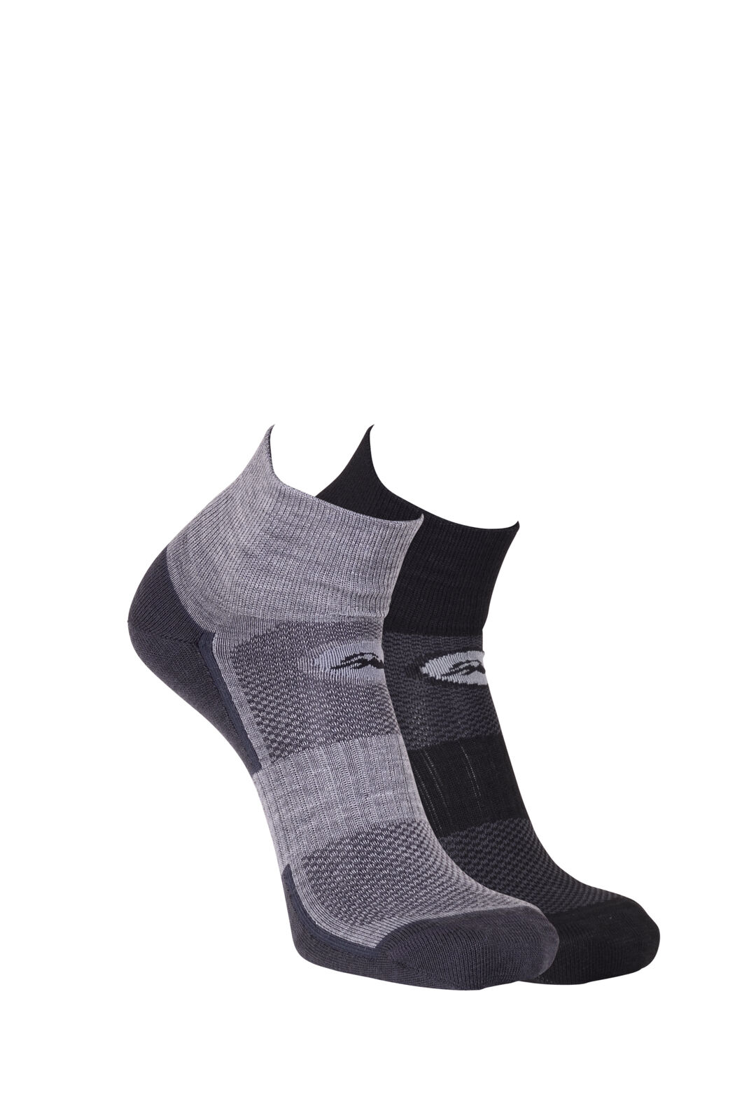 Macpac Merino Blend Quarter Socks (2 Pack), Black/Grey Marle, hi-res