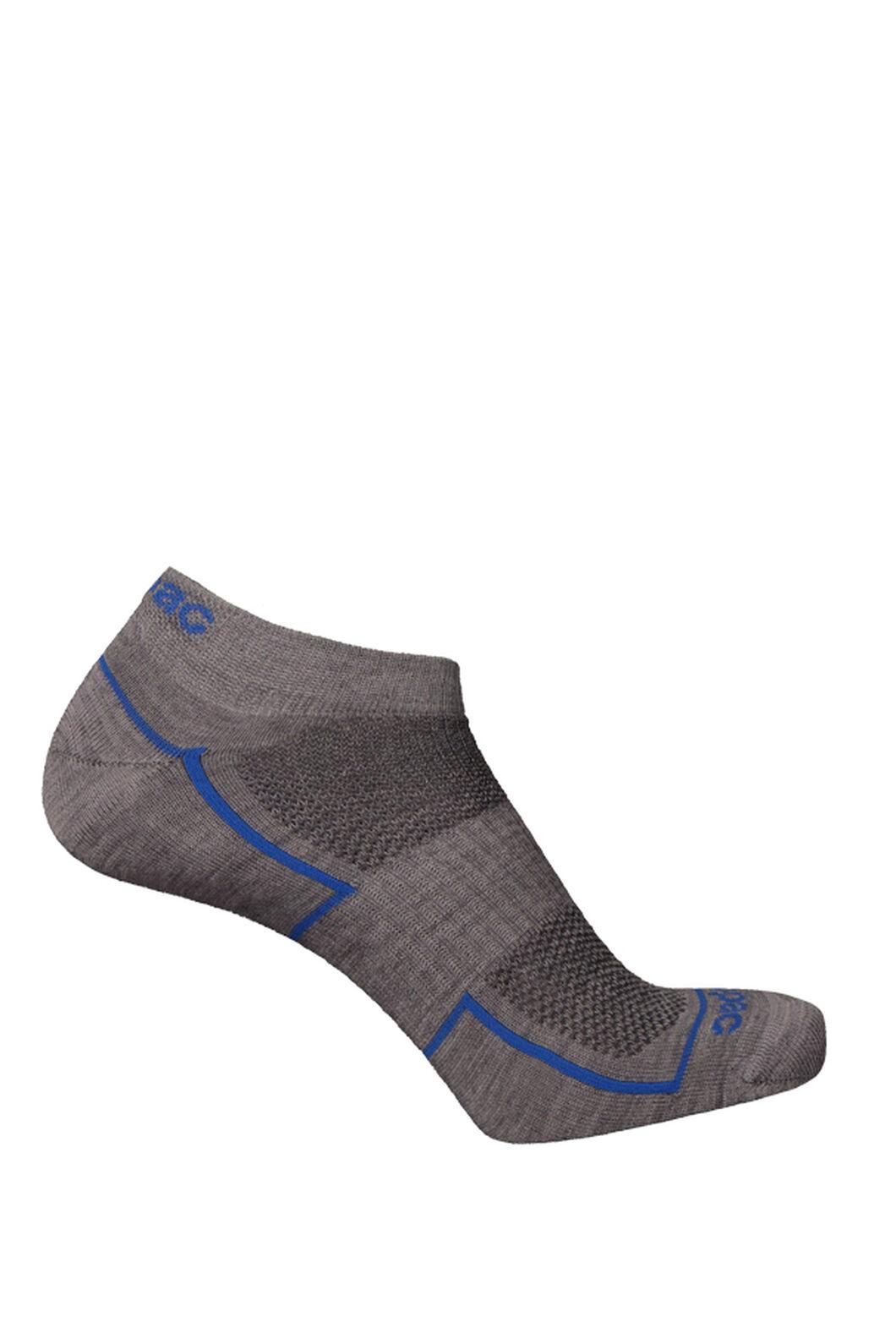 Macpac Merino Blend Anklet Socks 2 Pack, Grey Marle, hi-res