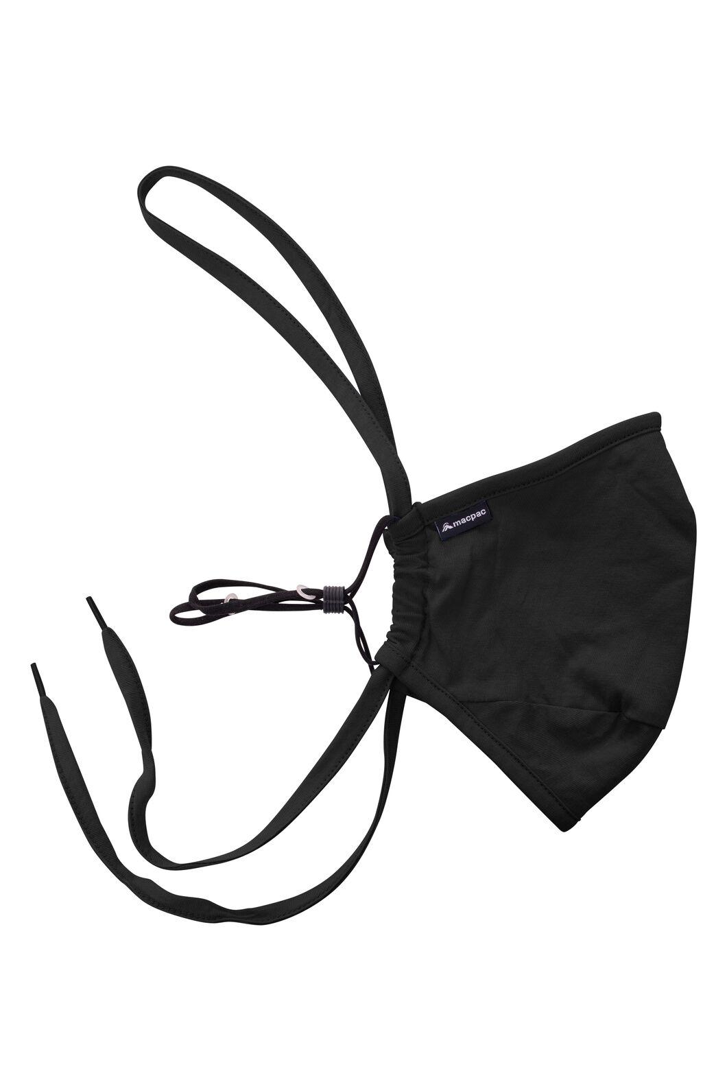Macpac Organic Cotton Community Mask — Single Unit, Black, hi-res