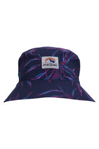 Macpac Winger Reversible Bucket Hat, Black Iris Print/Raspberry, hi-res