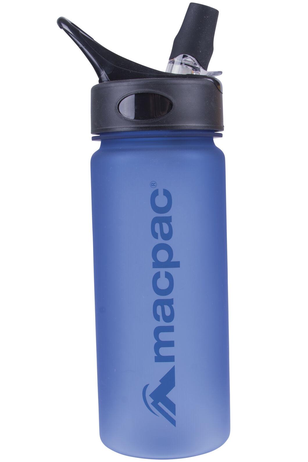 Flip Top Drink Bottle 550mL, Methyl/Dark Blue, hi-res