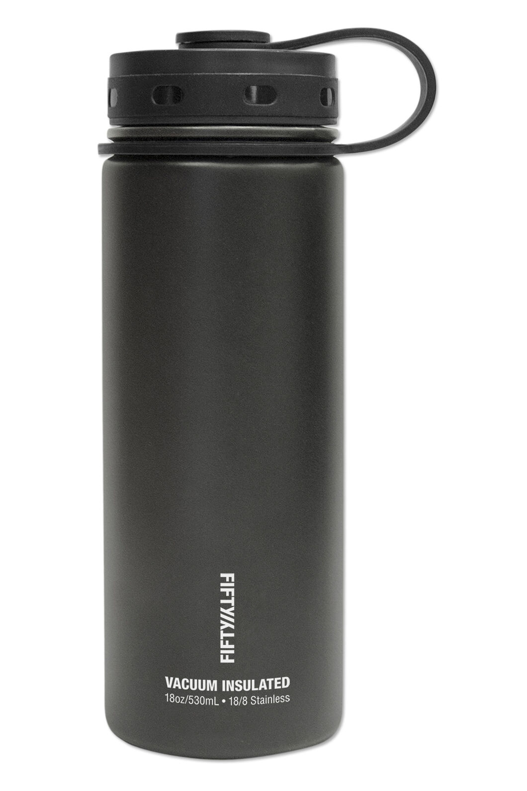FIFTY/FIFTY® 18oz Insulated Bottle, Matt Black, hi-res