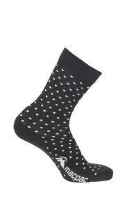 Macpac Merino Blend Footprint Socks, Black/White, hi-res