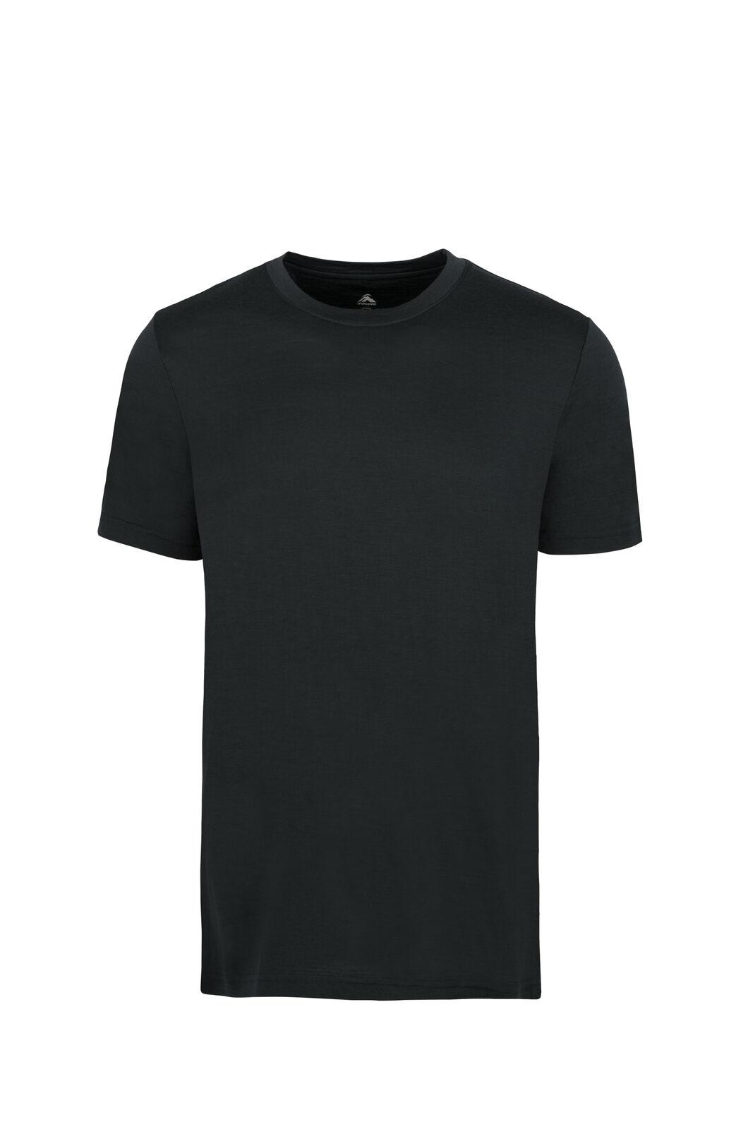 Macpac Lyell 180 Merino Tee — Men's, Black, hi-res