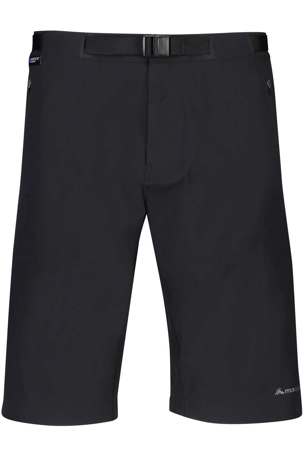 Macpac Trekker Pertex® Equilibrium Softshell Shorts - Men's, Black, hi-res
