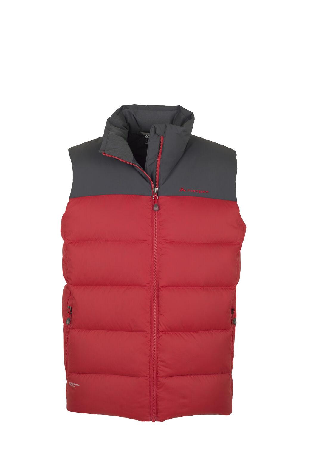 Macpac Ember Vest - Men's, Haute Red/Asphalt, hi-res