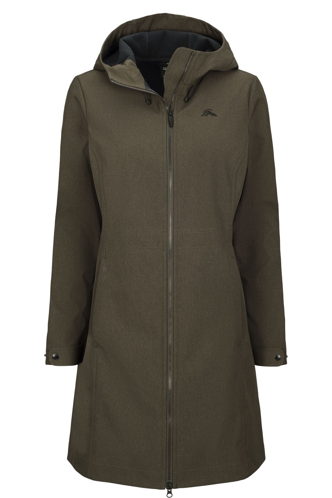 Macpac Chord Softshell Hooded Coat — Women's, Black Olive, hi-res