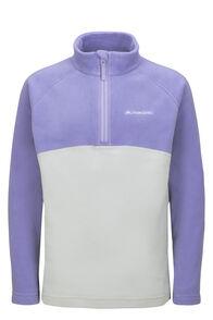Macpac Kids' Tui Polartec® Fleece Pullover, Aster Purple/High Rise, hi-res