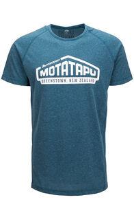 Macpac Motatapu Polycotton Tee — Men's, Blue Coral, hi-res