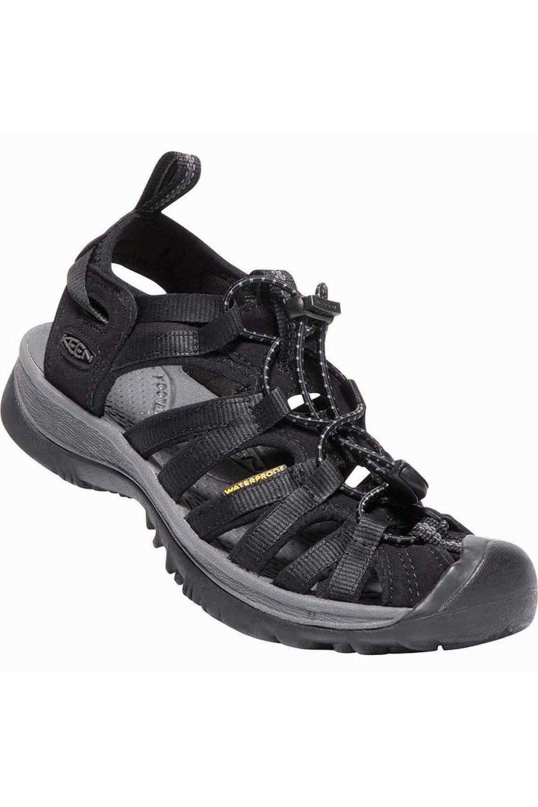 Keen Whisper Sandals — Women's, Black/Magnet, hi-res