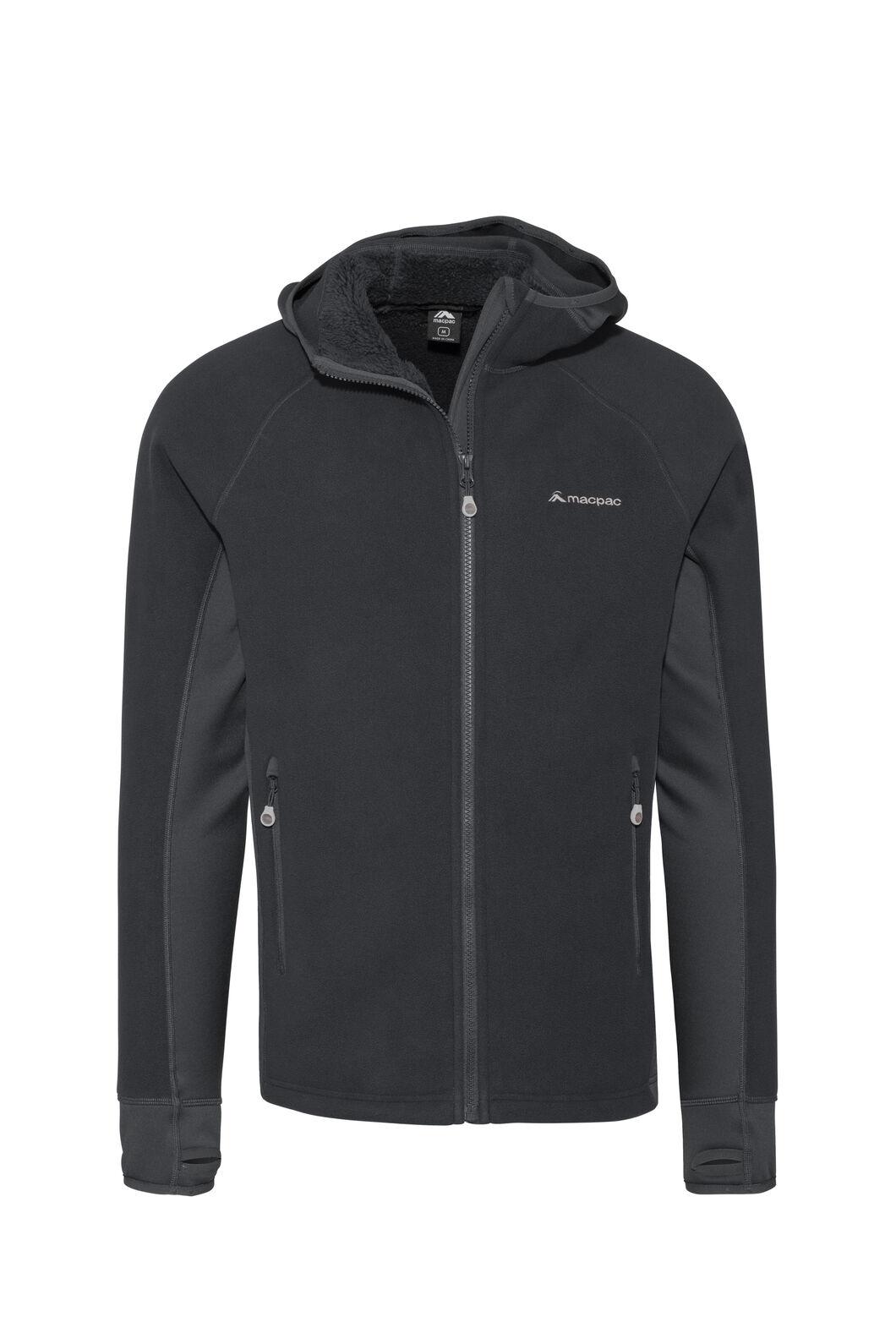 Macpac Mountain Hooded Jacket — Men's, Black, hi-res
